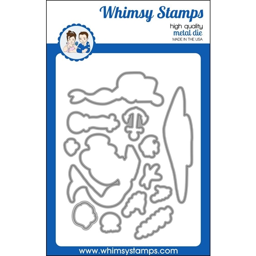 Whimsy Stamps MERMAID ESCAPE Die WSD415 Preview Image