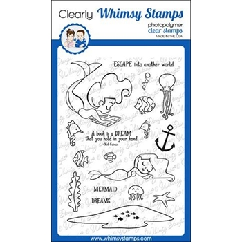 Whimsy Stamps MERMAID ESCAPE Clear Stamps CWSD283