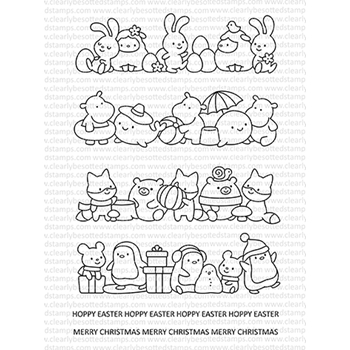 Clearly Besotted SEASONAL LINE UP Clear Stamps*