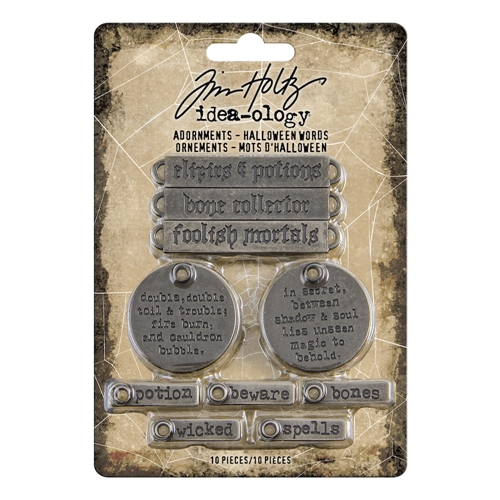 Tim Holtz Idea-ology HALLOWEEN WORDS Adornments th93966 Preview Image
