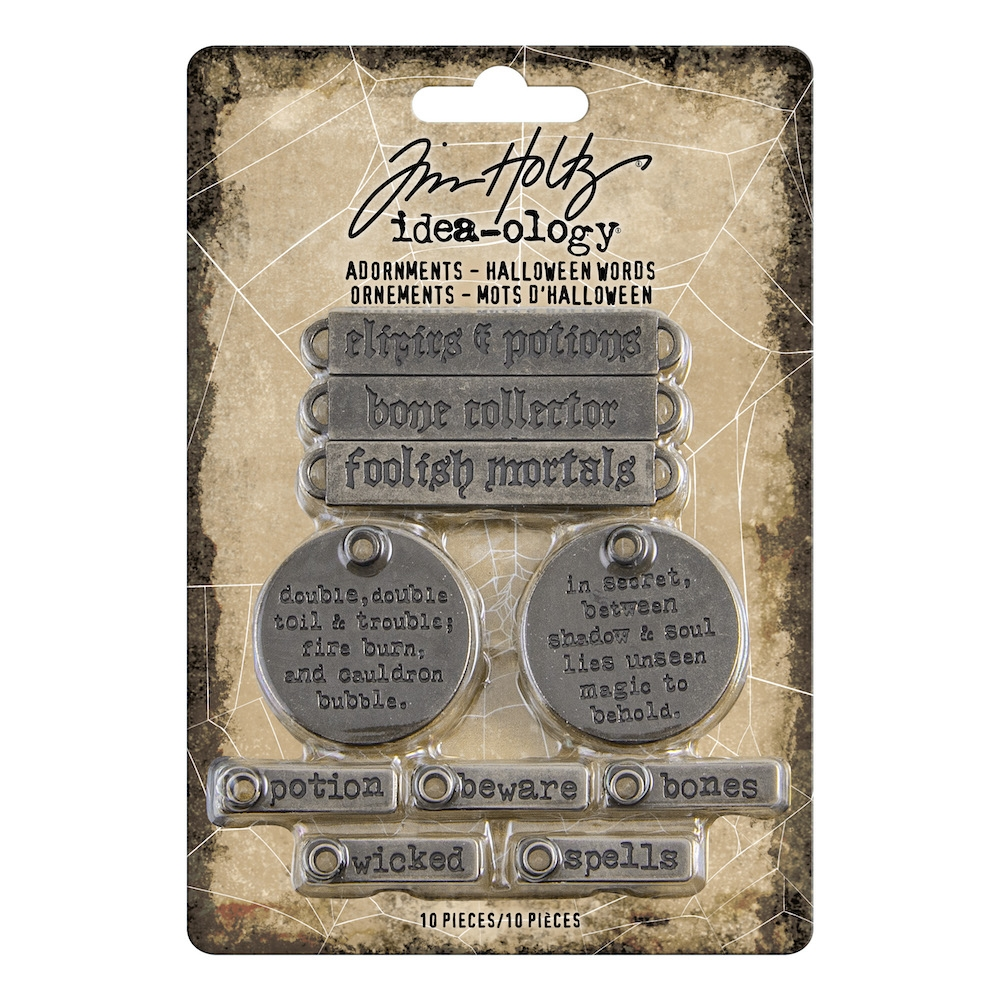 Tim Holtz Idea-ology HALLOWEEN WORDS Adornments th93966 zoom image