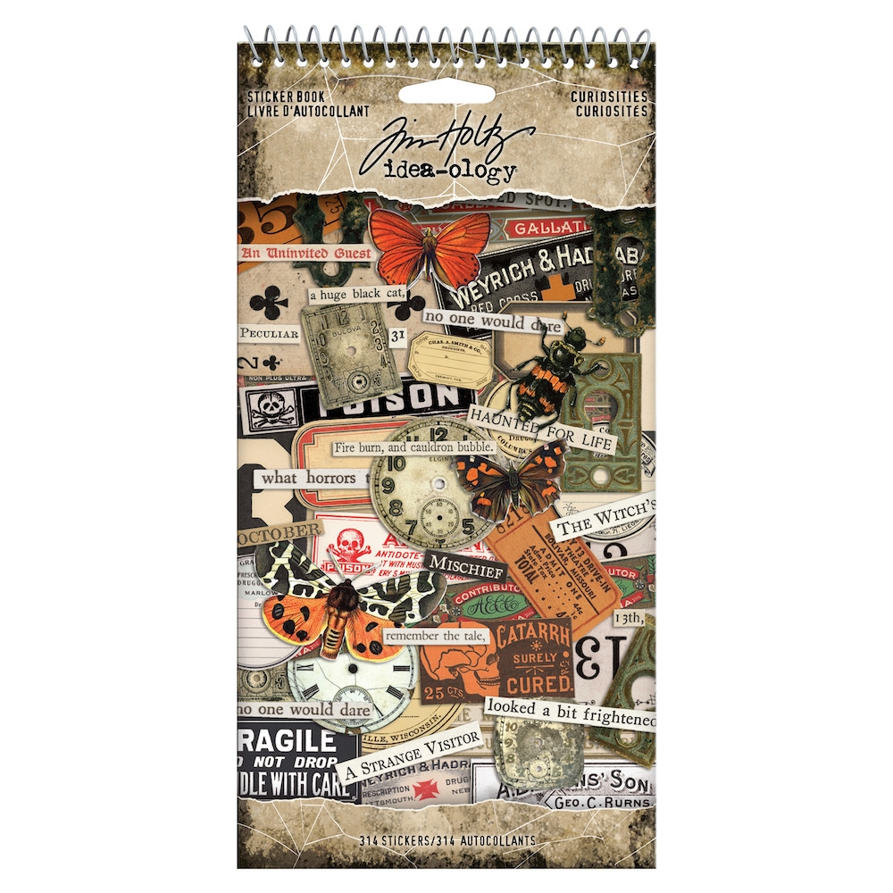 Tim Holtz Idea-ology CURIOSITIES Sticker Book th93969 zoom image