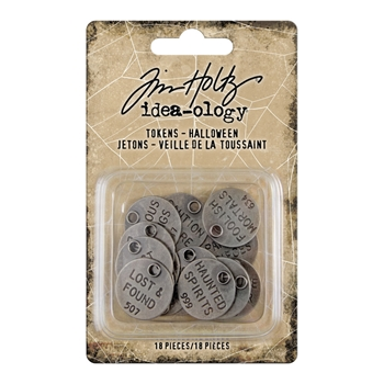 Tim Holtz Idea-ology HALLOWEEN Tokens th94064*