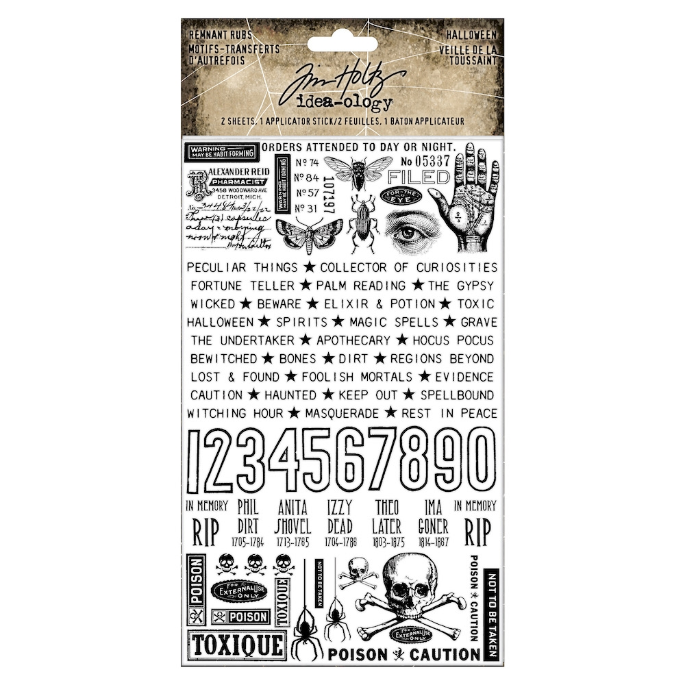 Tim Holtz Idea-ology HALLOWEEN Remnant Rubs th93972 zoom image
