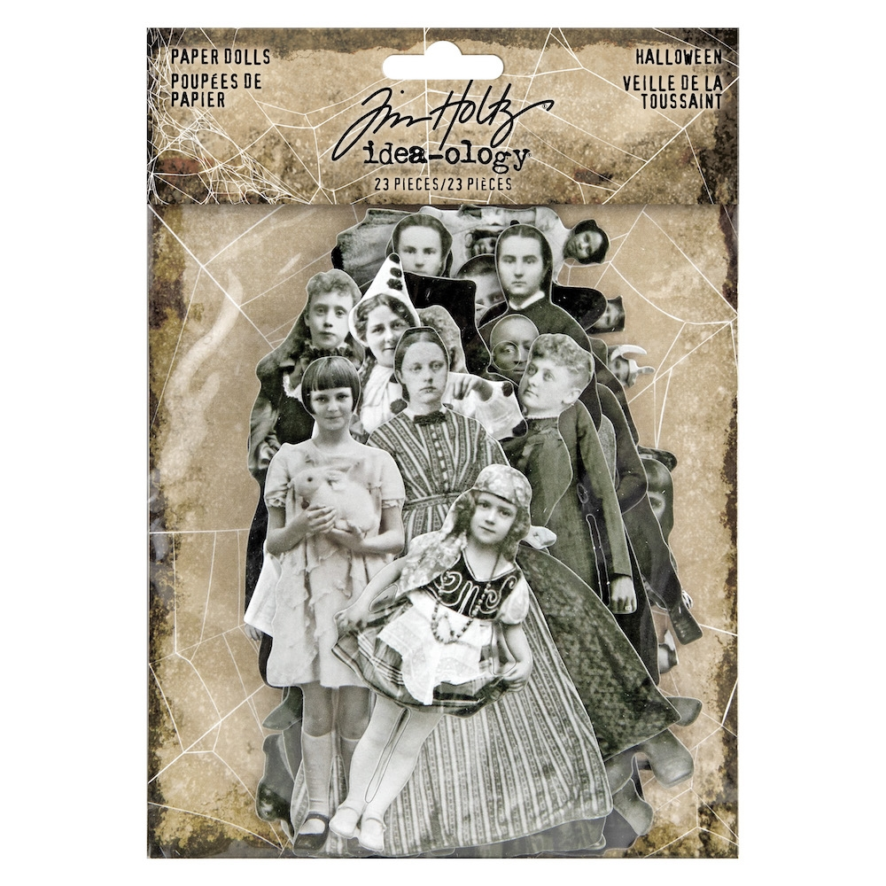 Tim Holtz Idea-ology HALLOWEEN PAPER DOLLS th93973 zoom image