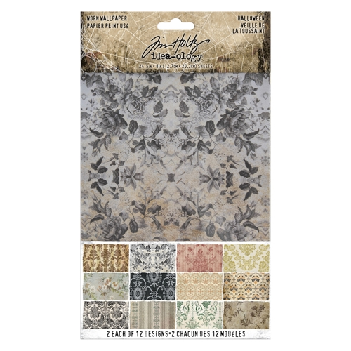 Tim Holtz Idea-ology HALLOWEEN Worn Wallpaper th93974 Preview Image
