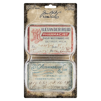Tim Holtz Idea-ology HALLOWEEN Trinket Tins th93976