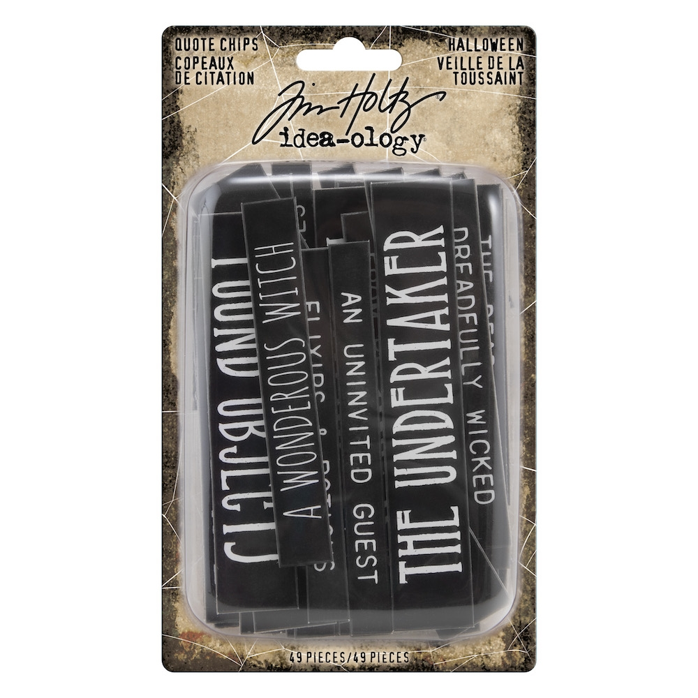 Tim Holtz Idea-ology HALLOWEEN Quote Chips th93978 zoom image