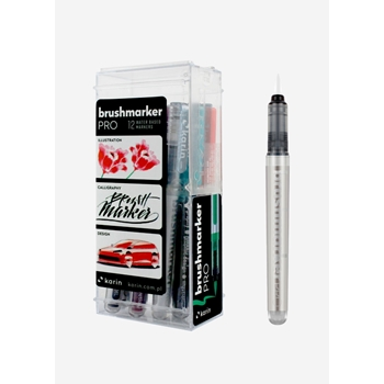 Karin BRUSHMARKER PRO 11 COLORS PLUS BLENDER Set 27c1