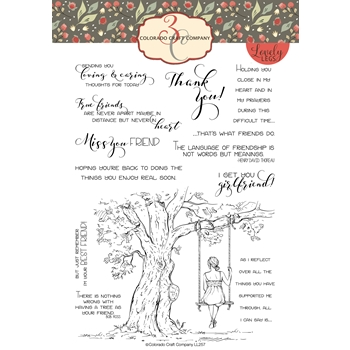 Colorado Craft Company Lovely Legs REFLECTION TREE Clear Stamps LL257 *