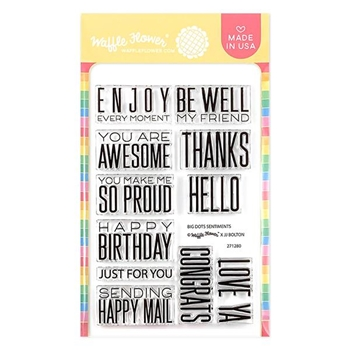Waffle Flower BIG DOTS SENTIMENTS Clear Stamps 271280