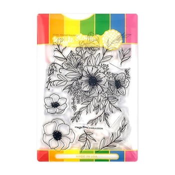 Waffle Flower BOUQUET BUILDER 5 Clear Stamp and Die Combo WFC262
