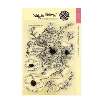 Waffle Flower BOUQUET BUILDER 5 Clear Stamps 271262