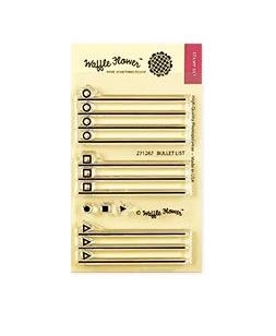 Waffle Flower BULLET LIST Clear Stamp 271267