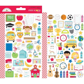 Doodlebug SCHOOL DAYS Mini Icons Cardstock Stickers 6377
