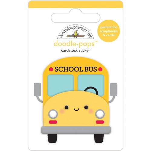 Doodlebug SCHOOL BUS Doodle Pops 3D Sticker 6366 Preview Image