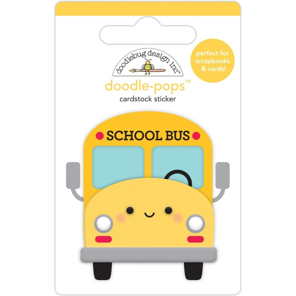 Doodlebug SCHOOL BUS Doodle Pops 3D Sticker 6366 zoom image