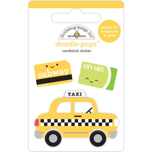 Doodlebug TAXI Doodle Pops 3D Stickers 6359 Preview Image