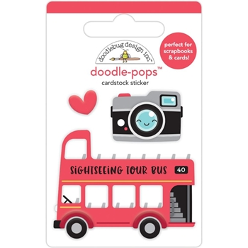 Doodlebug DOUBLE DECKER Doodle Pops 3D Stickers 6357
