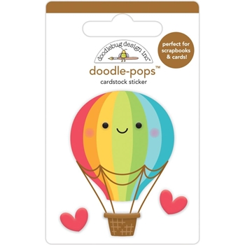 Doodlebug UP UP AND AWAY Doodle Pops 3D Stickers 6362