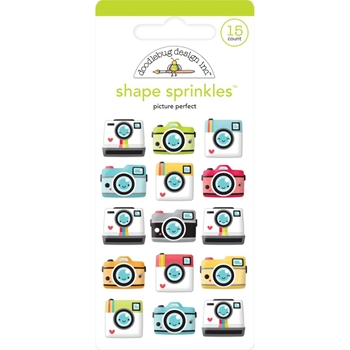 Doodlebug PICTURE PERFECT Sprinkles Adhesive Glossy Enamel Shapes 6351