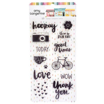American Crafts Amy Tangerine CLEAR STAMPS Slice of Life 355920
