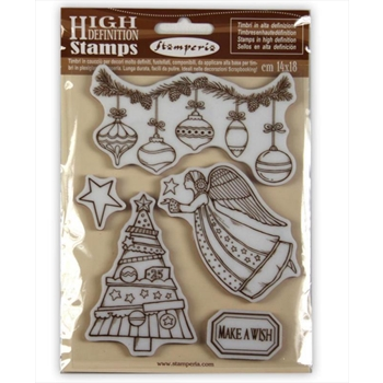 Stamperia MAKE A WISH ANGEL Cling Stamp Set wtkcc162