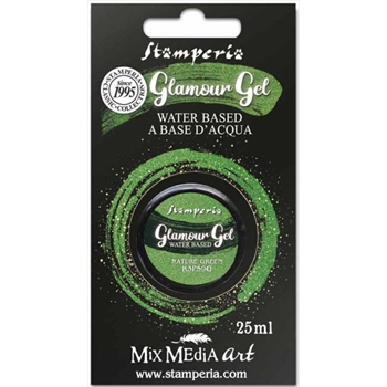 Stamperia GLAMOUR GEL NATURE GREEN 25ml k3p59g