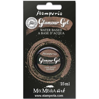 Stamperia GLAMOUR GEL DARK WOOD 25ml k3p59e