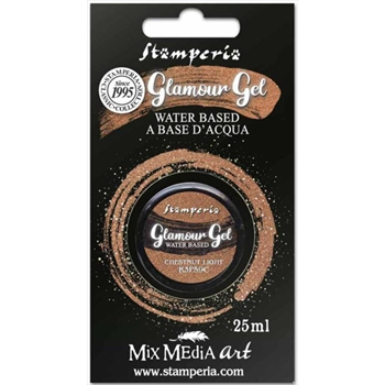 Stamperia GLAMOUR GEL CHESTNUT LIGHT 25ml k3p59c
