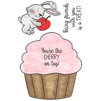 Inky Antics CUPCAKE BUNNY Clear Stamp Set 11460mc