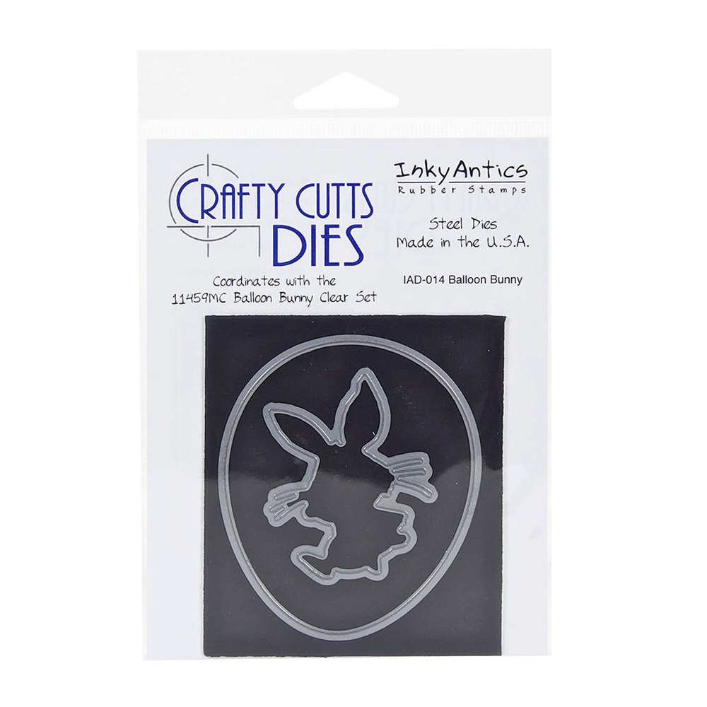 Inky Antics BALLOON BUNNY Metal Die d014* zoom image