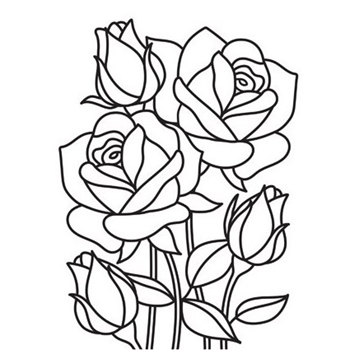 Darice MOSAIC ROSE Embossing Folder 30008386