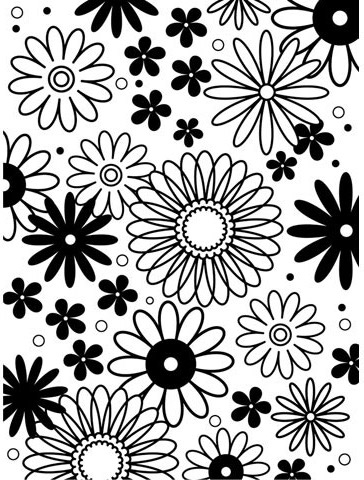 Darice FLOWER FRENZY Embossing Folder 1217-41 Preview Image