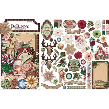 BoBunny CHRISTMAS TREASURES Die Cuts Noteworthy 7310921