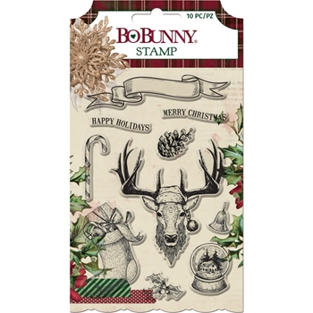 BoBunny CHRISTMAS TREASURES Clear Stamp Set 7310902