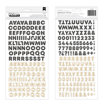 Crate Paper HERITAGE Alphabet Thickers Stickers 350960