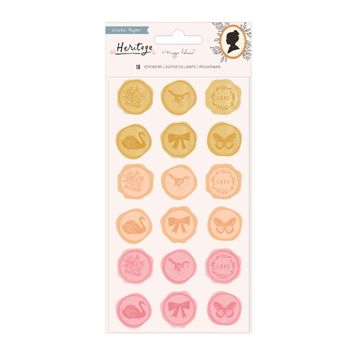 Crate Paper HERITAGE Puffy Stickers 350946 Preview Image