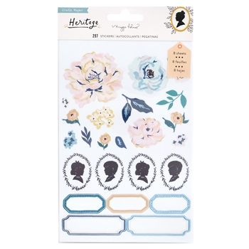 Crate Paper HERITAGE Clear Sticker Book 350947
