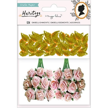 Crate Paper HERITAGE Paper Flowers And Sequins 350951