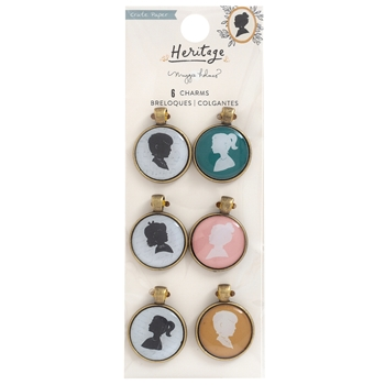Crate Paper HERITAGE Portrait Charms 350952