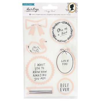 Crate Paper HERITAGE Stamp And Die Set 350953