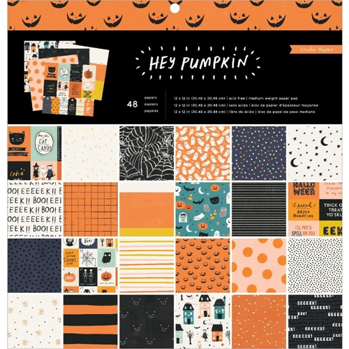 Crate Paper HEY PUMPKIN 12 x 12 Paper Pad 350894 Preview Image
