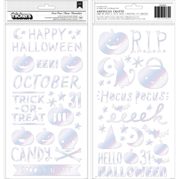 Crate Paper HEY PUMPKIN Phrase Thickers Stickers 350884*