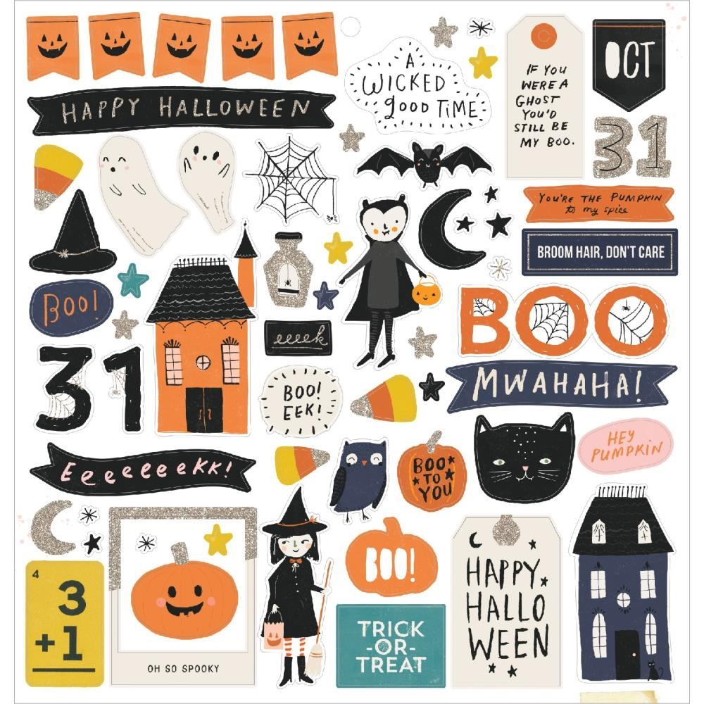 Crate Paper HEY PUMPKIN 12 x 12 Chipboard Stickers 350885 zoom image