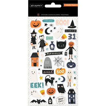 Crate Paper HEY PUMPKIN Puffy Stickers 350888