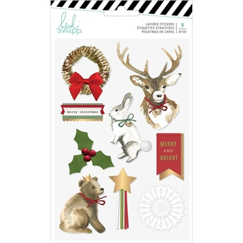 Heidi Swapp WINTER WONDERLAND Layered Stickers 314795