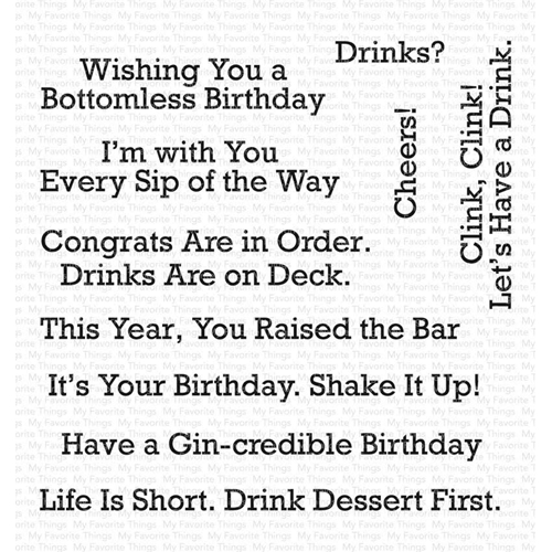 My Favorite Things A TOAST TO YOU Clear Stamps CS400 Preview Image