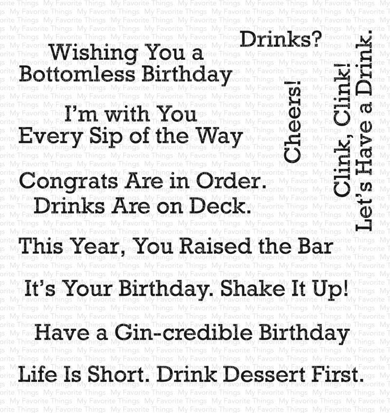 My Favorite Things A TOAST TO YOU Clear Stamps CS400 zoom image