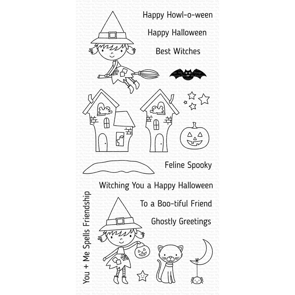 My Favorite Things BEST WITCHES Clear Stamps CS412 zoom image